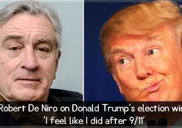 Robert De Niro on Donald Trump's election win: 'I feel like I did after 9/11'