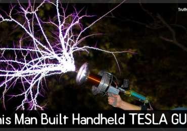 This Man Built Handheld TESLA GUN!