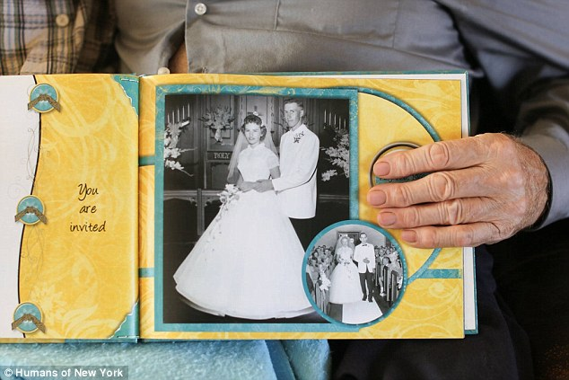 elderly man with his wife, she has Alzheimer's