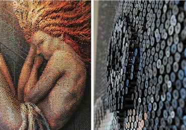 Artist Used 20,000 Nails to Create Amazing Portraits.