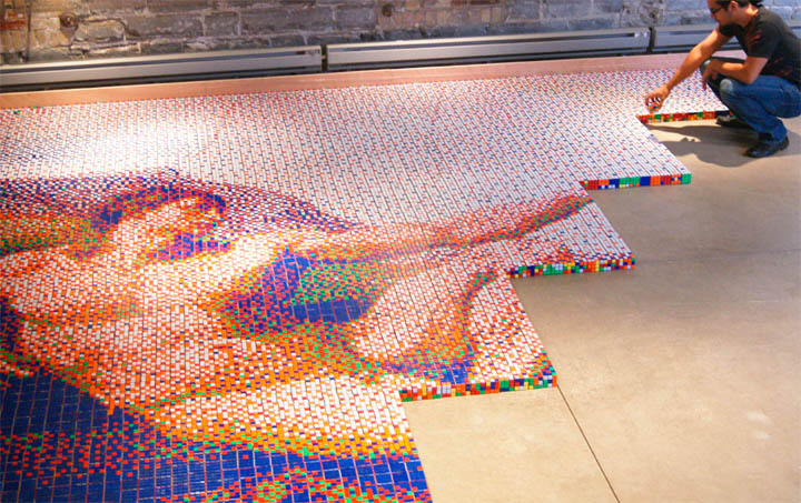 These Artists Twist Thousands of Rubik's Cube a Day to Create Massive Murals.9