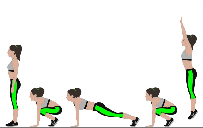 1. Do burpees to keep your metabolism up to speed