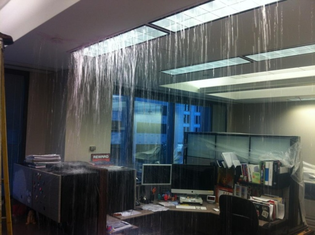 16. Have you heard of indoor showers The kind that floods your office