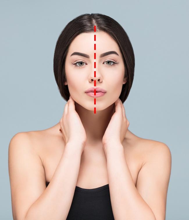 3. Facial symmetry