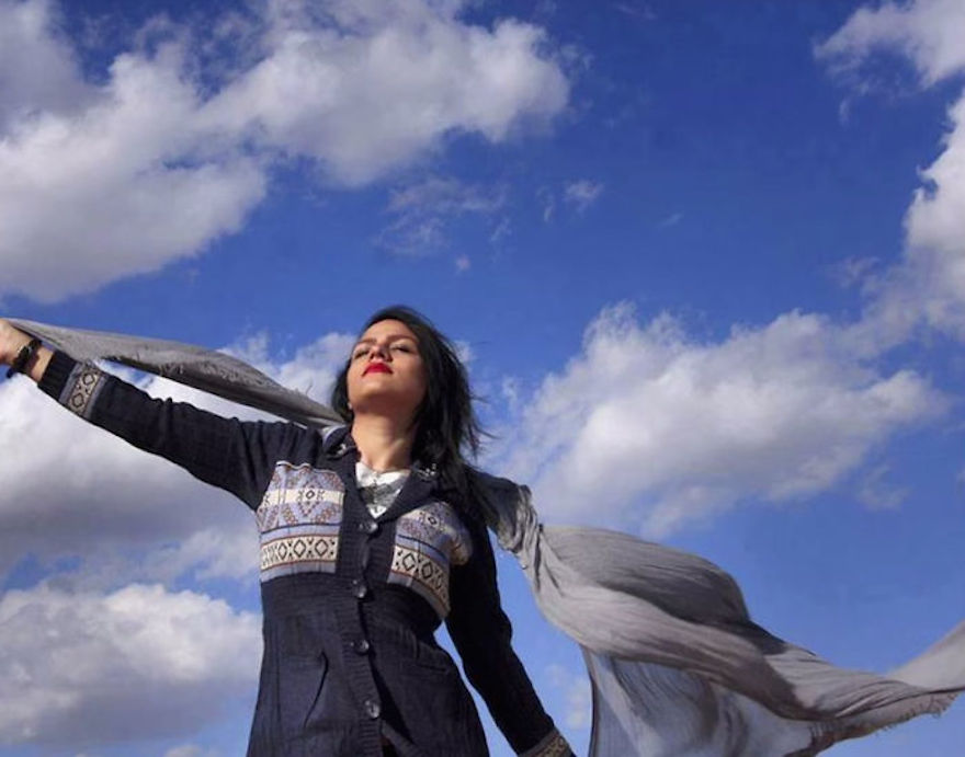 "Iranian Women Are Posting Pics With Their Hair Flying Free In Protest Of Strict Hijab Laws - ""It's an amazing feeling when wind tangles your hair under the blue sky."""