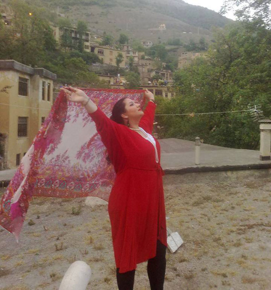 "Iranian Women Are Posting Pics With Their Hair Flying Free In Protest Of Strict Hijab Laws - ""It's sad that my pretty black hair's going grey and it hasn't seen the wind, sun or rain yet."""