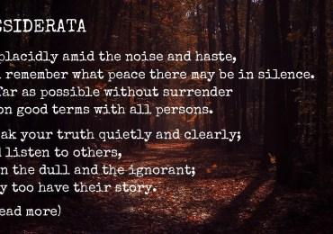 Open-Minding Poem - Desiderata