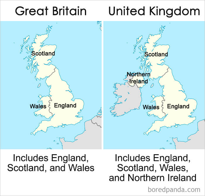 3. Great Britain vs the United Kingdom