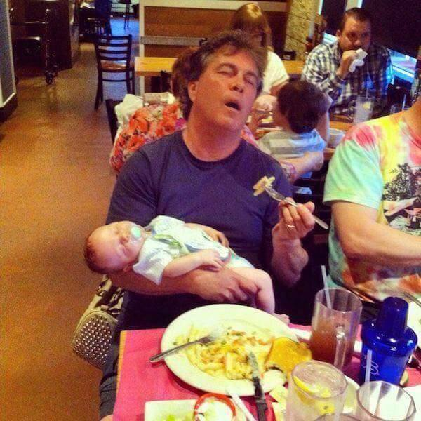 12 Things That Happen When Daddy Is Left Alone With The Baby 9
