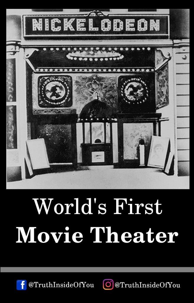 14. World's First Movie Theater