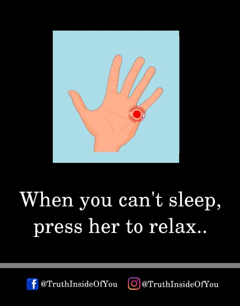7. When you can't sleep, press her to relax.