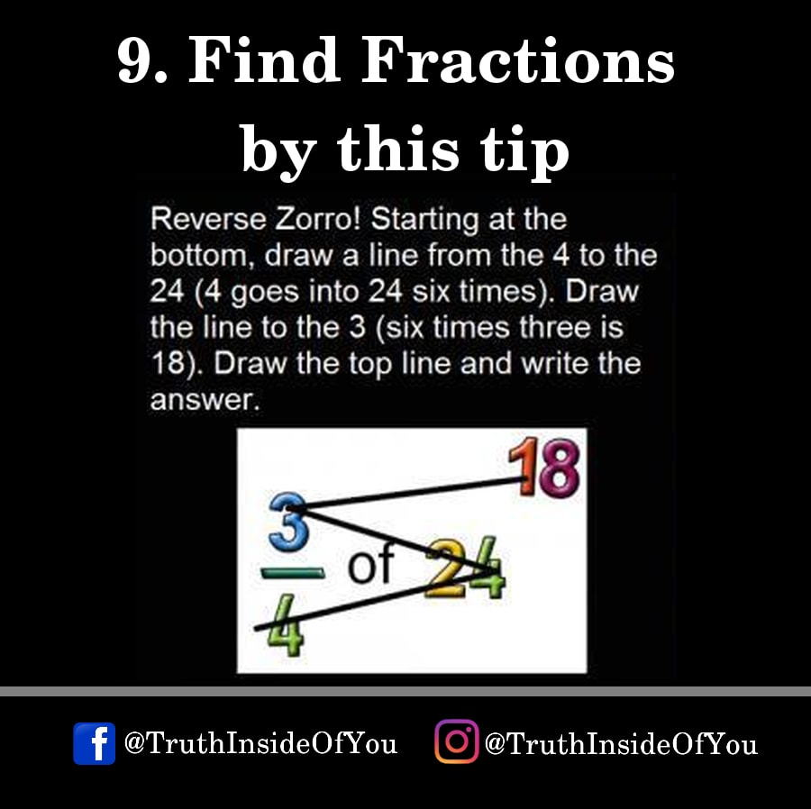9. Find Fractions by this tip