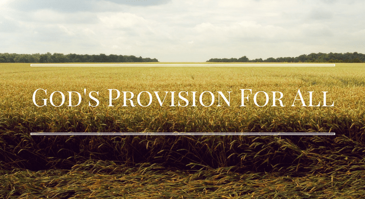 God's Provision For All