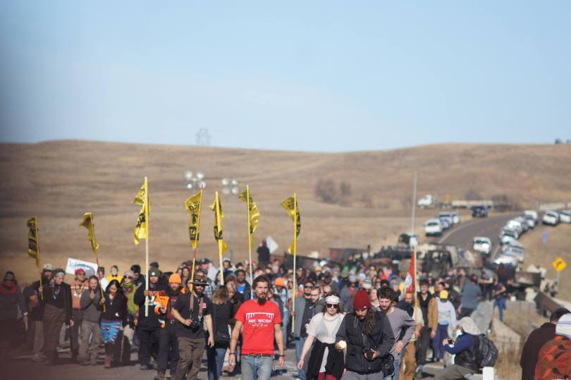 On the road at the Dakota Access pipeline protests. Uploaded to Facebook Nov. 2, 2016. Photo: David Guthrie