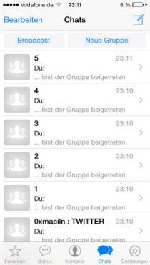 Whatsapp, WhatsApp Messenger, iOS7