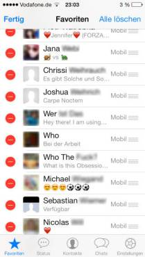 WhatsApp, messaging apps, iOS 7 icons