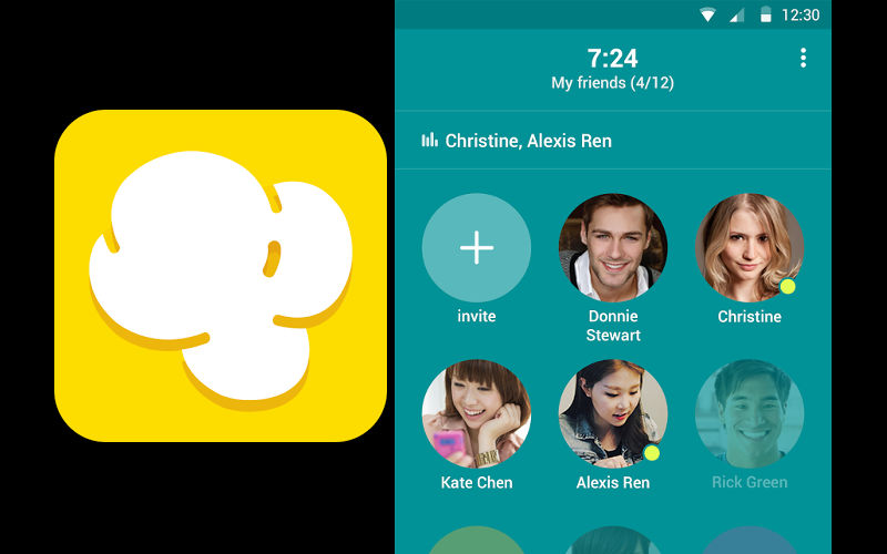 LINE Popcorn Buzz, LINE app, LINE voice conferencing
