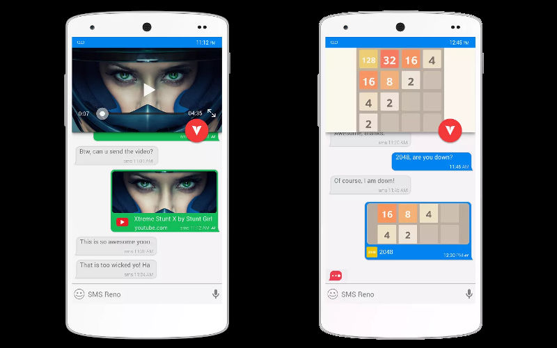 Invi messaging app, free sms inbox replacement, android and ios social apps