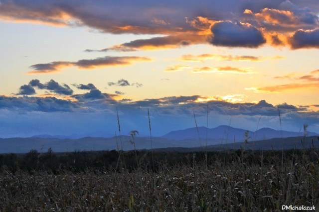 View of the Adirondack Mountains in New York, from Vermont