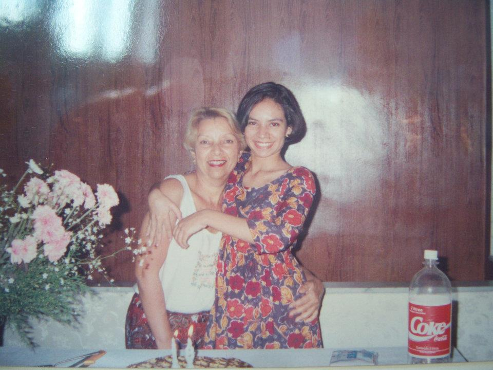 Debbie Rodrigues, pictured right, with her mother