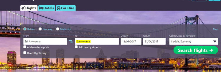 skyscanner-everywhere