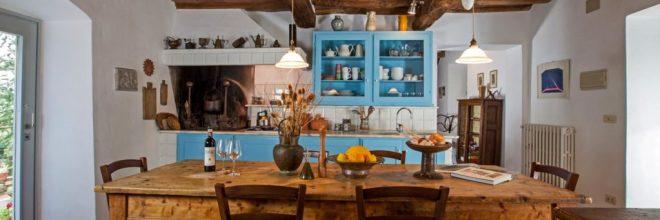 Kitchen at Montrogoli Km Zero Tours