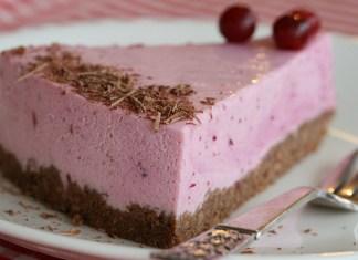 Frozen Cranberry lemon Cheesecake