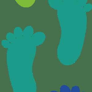 Fødder multifarvet