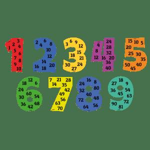 tabeller på tal