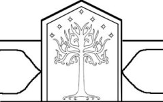 Sketch of crown's center with White Tree of Gondor