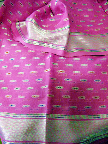 The pink sari that inspired the gown