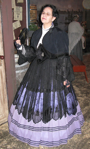 Trystan at Dickens Fair in revamped Eugenie gown