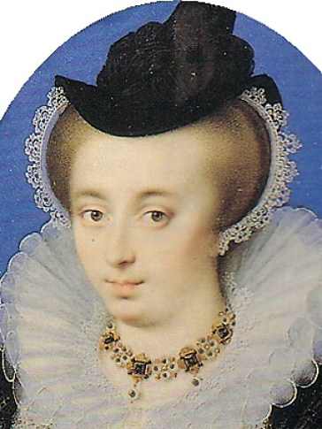 1595 - Unknown lady by Isaac Oliver (image source: Wikimedia Commons)