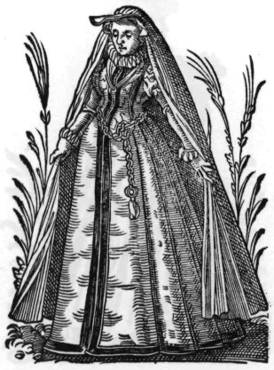 1586, Dutchwoman from Frauen Trachtenbuch by Jost Amman (image source: Wikimedia Commons)