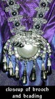 brooch on faerie-tale gown bodice