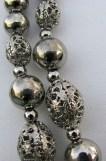 Silver beads, closeup