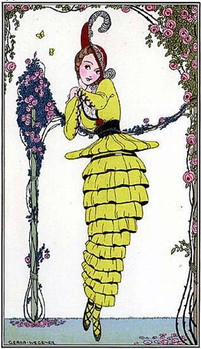 Journal des Dames et des Modes, August 1914, afternoon dress (image source: University of Washington Libraries)