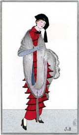 Journal des Dames et des Modes, January 1914, day dress (image source: University of Washington Libraries)