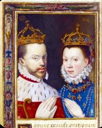 1559 - Elisabeth de Valois & King Philip II of Spain (image source: Bibliotheque Nationale de France)