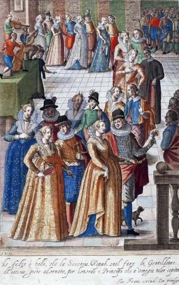 1590 festival procession by Giacomo Franco