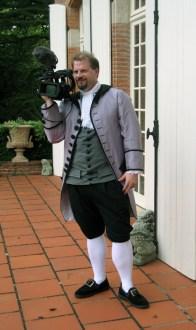New lavender silk coat and new grey silk waistcoat