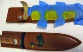 painted knife sheaths in progress