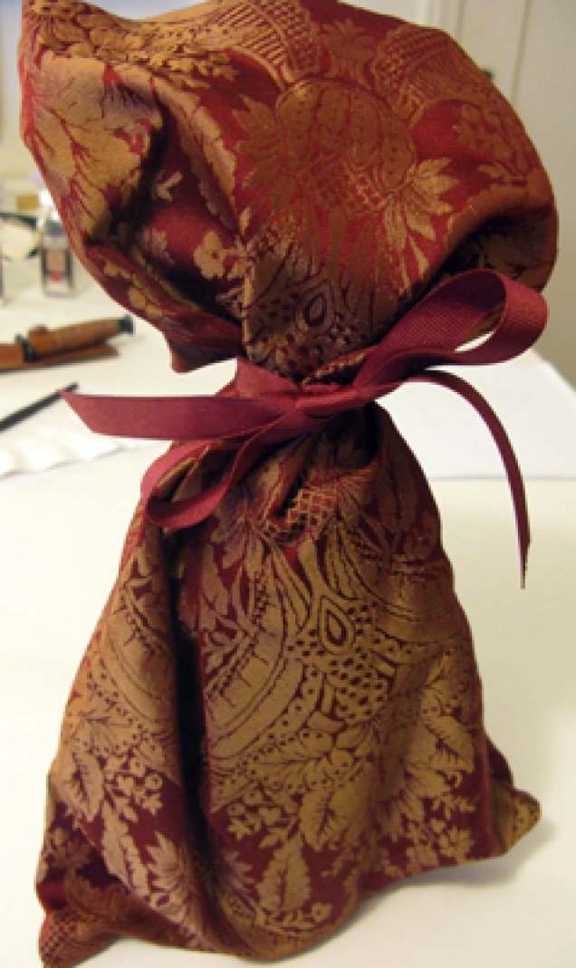 brocade wine bag