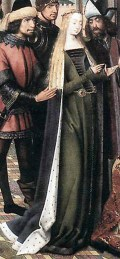 1480, detail from the Legend of St. Lucy by unknown master from Bruges