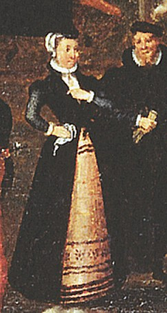 """1569, detail from """"Fete at Bermondsey"""" by Joris Hoefnagel, image from Wikimedia"""