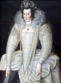 1595-1600, Elizabeth Throckmorton, maid of honour to Queen Elizabeth I, by Robert Peake the Elder