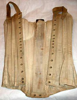 Corset possibly worn by Charlotte Brontë, image from The Brontë Society Collections