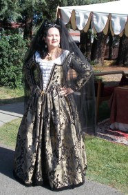 black & gold venetian courtesan gown