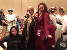 Tyrion with the two women he can't bone. Photo from Kendra van Cleave.