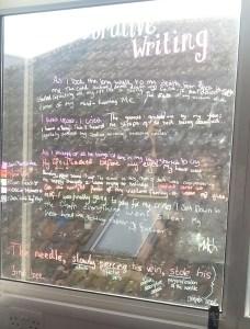 Writing on the…windows!